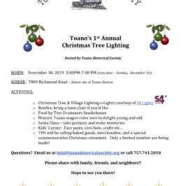 Christmas Tree Lighting Event Schedule and Parking Information