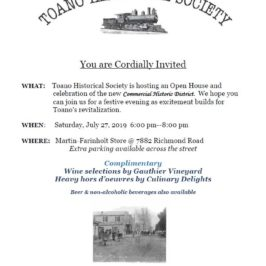 Commercial Historic District Celebration & Open House July 27