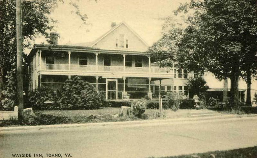 Wayside Inn: Lost to highway improvements in 1966